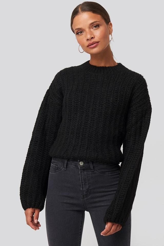 Round Neck Heavy Knit Sweater NA-KD