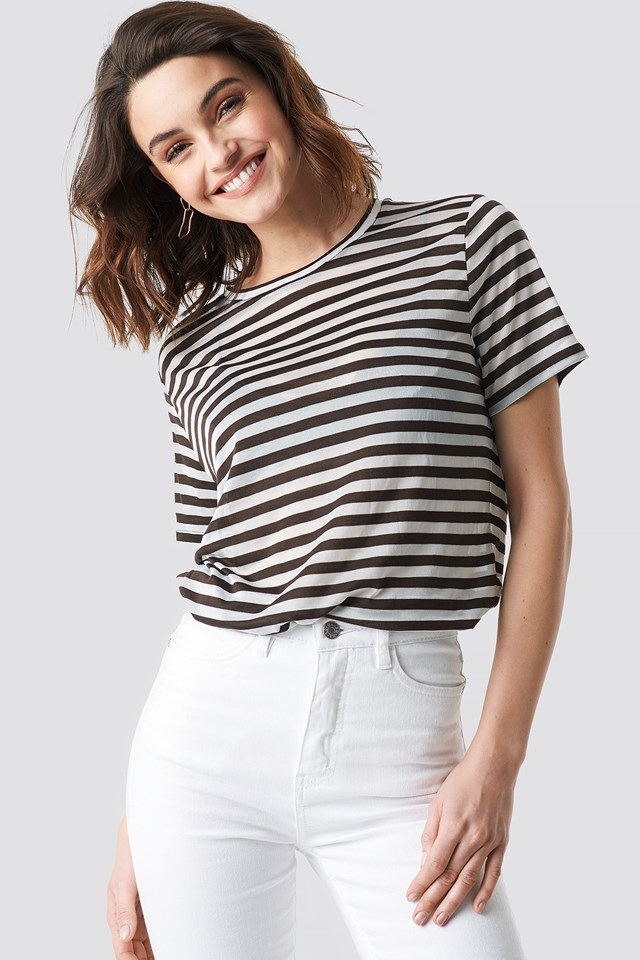 Round Neck Striped T-Shirt NA-KD