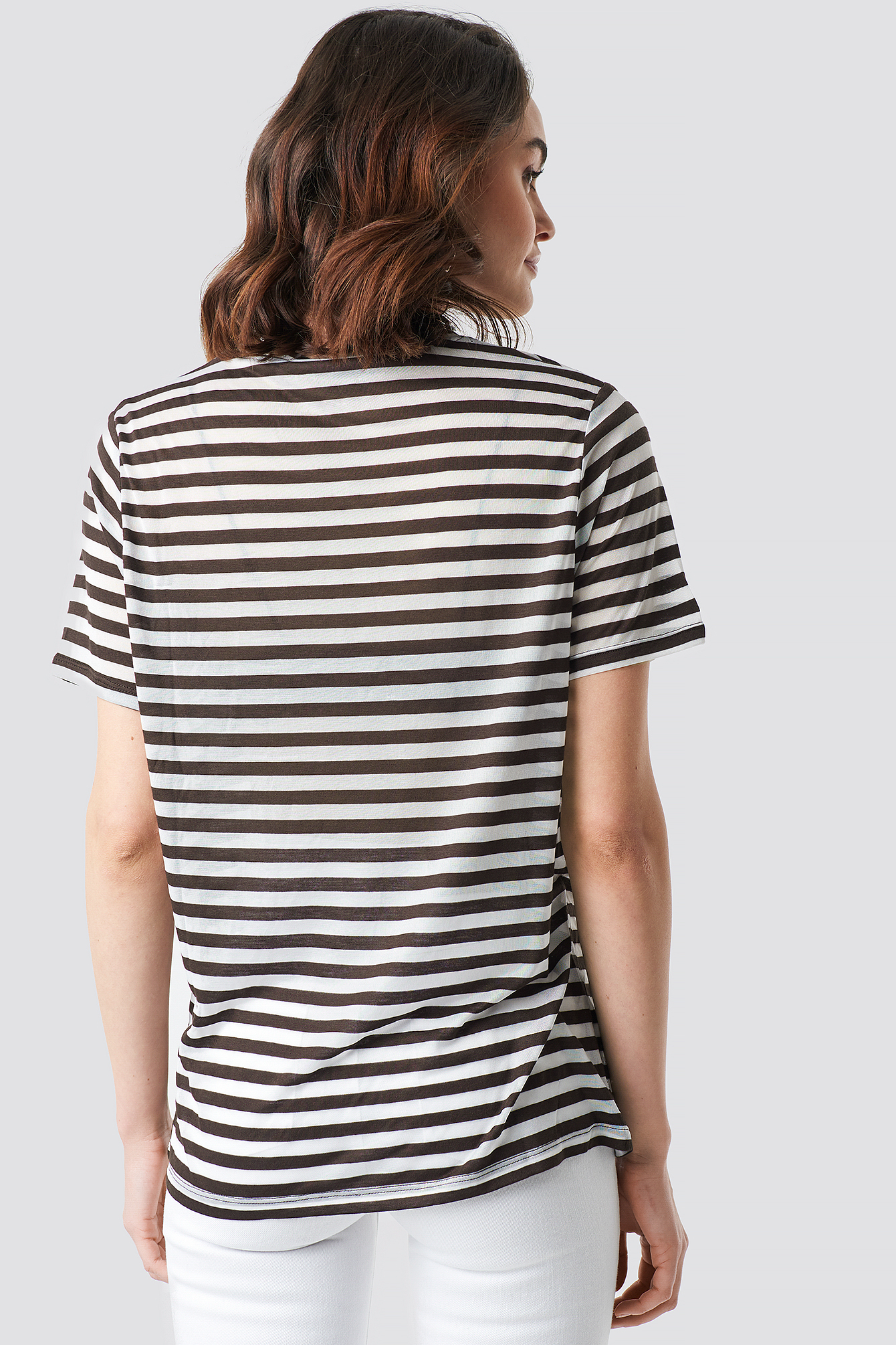 Round Neck Striped T-Shirt NA-KD.COM