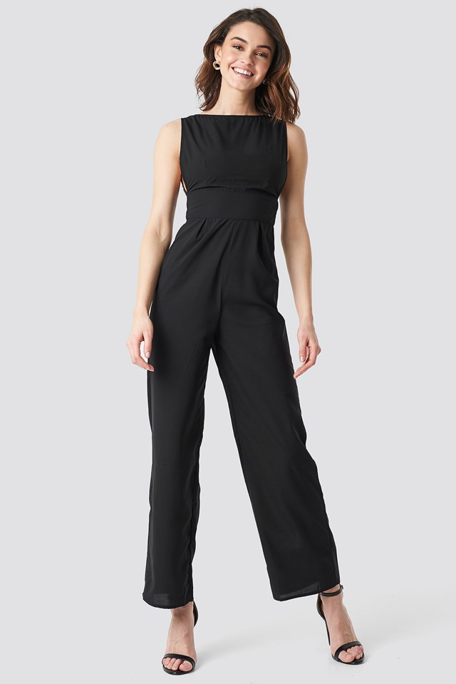 Round Neck Wide Leg Jumpsuit NA-KD.COM