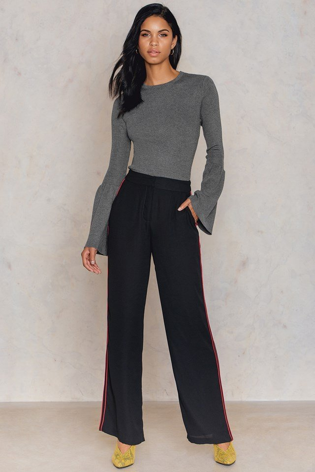 Round Neck Wide Sleeve Knitted Sweater NA-KD.COM