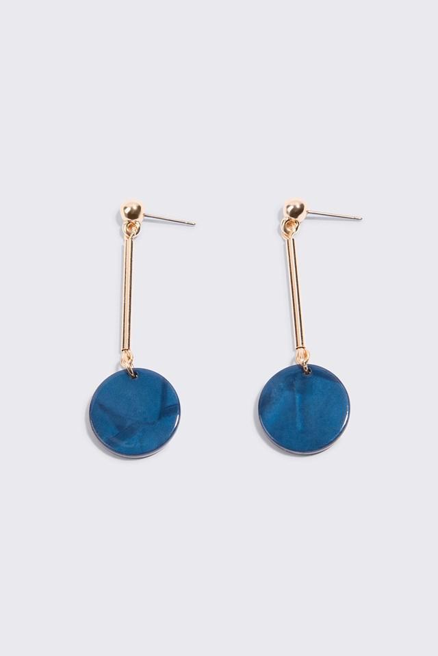 Round Resin Drop Earrings NA-KD.COM