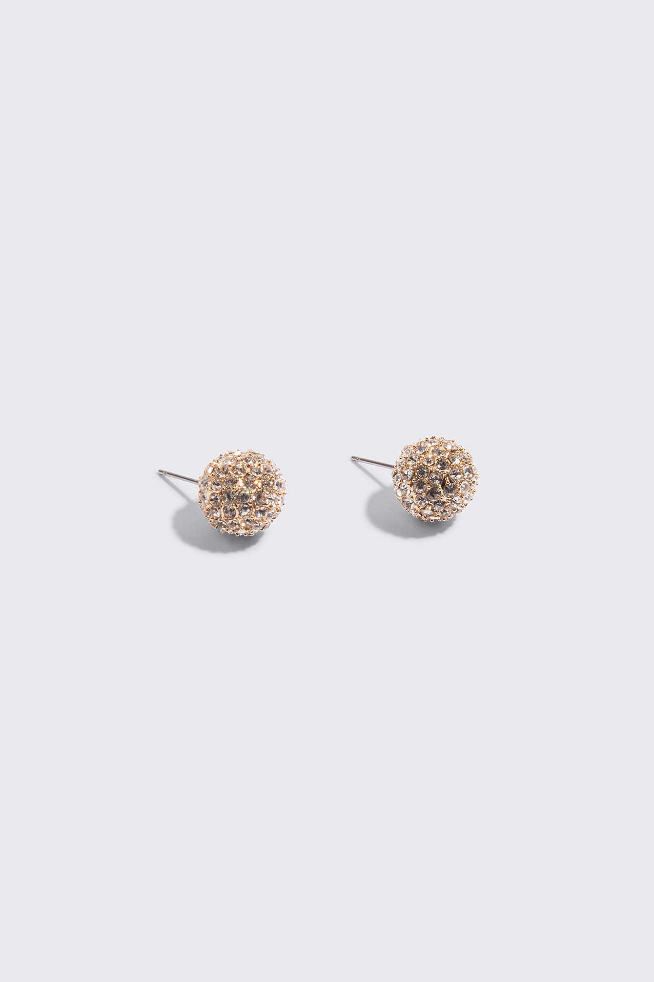 Round Sparkling Stud Earrings NA-KD.COM