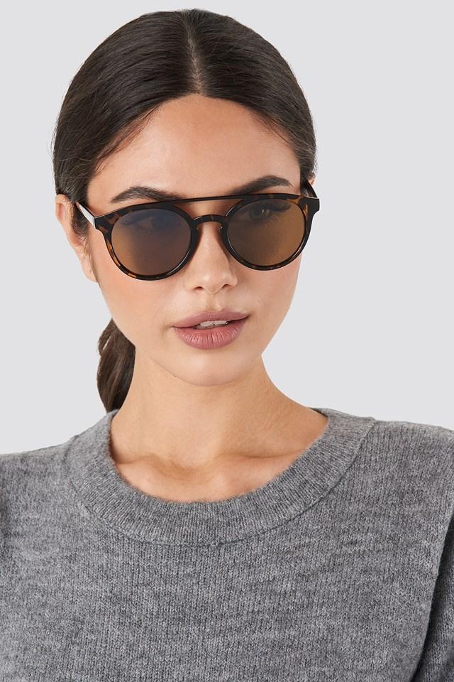 Round Top Bridge Sunglasses Tortoise