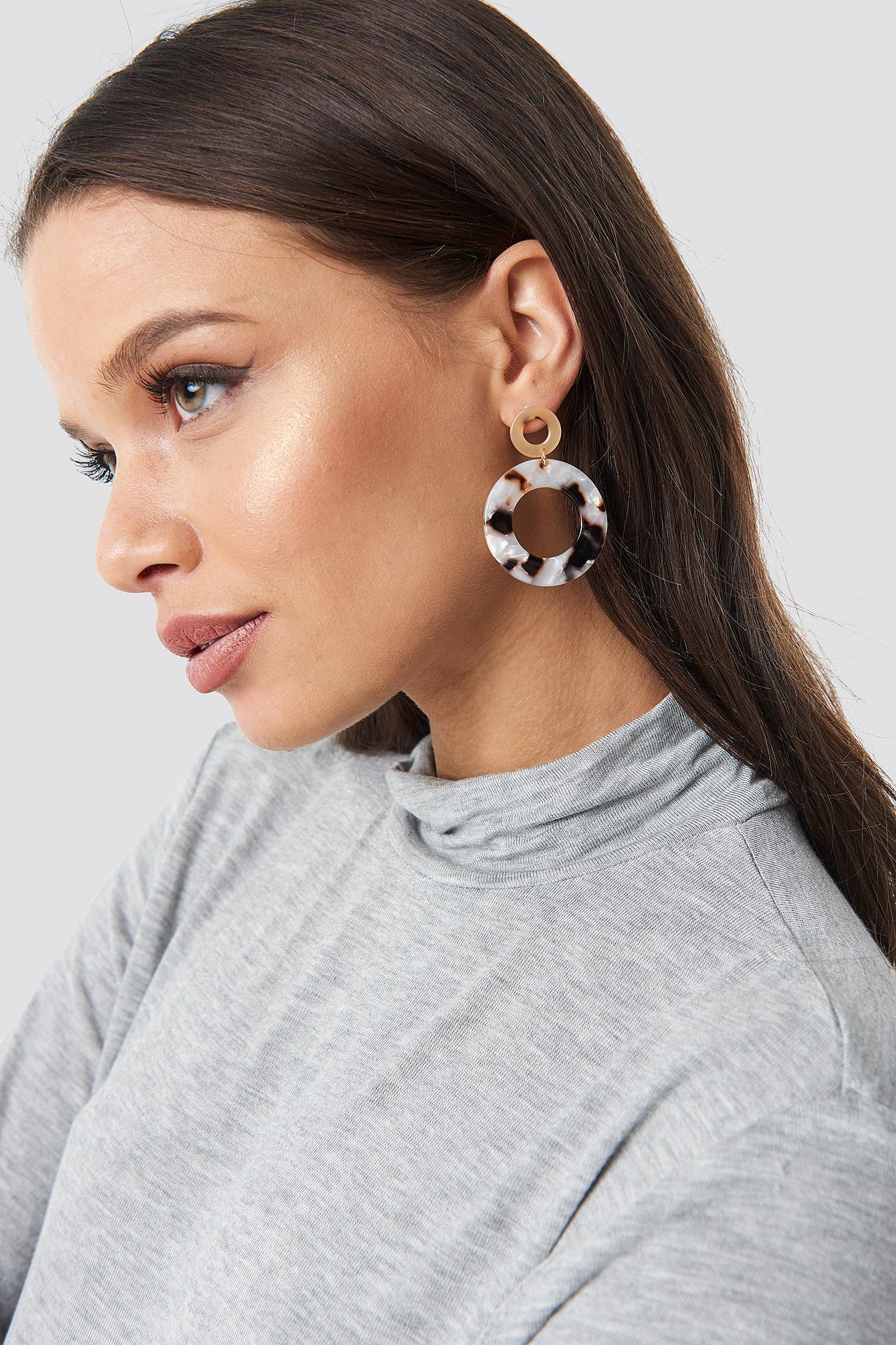 Round Tortoise Earrings NA-KD.COM