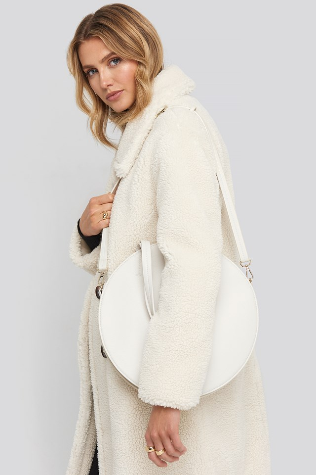 Round Tote Bag Offwhite