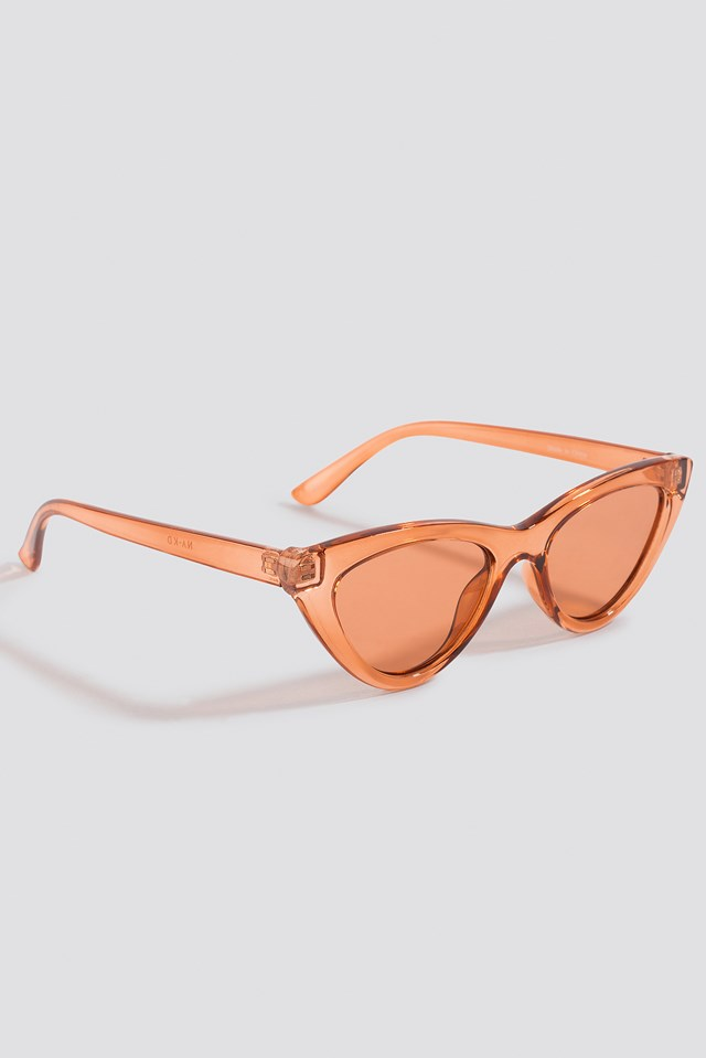Rounded Cat Eye Sunglasses Rustic Red