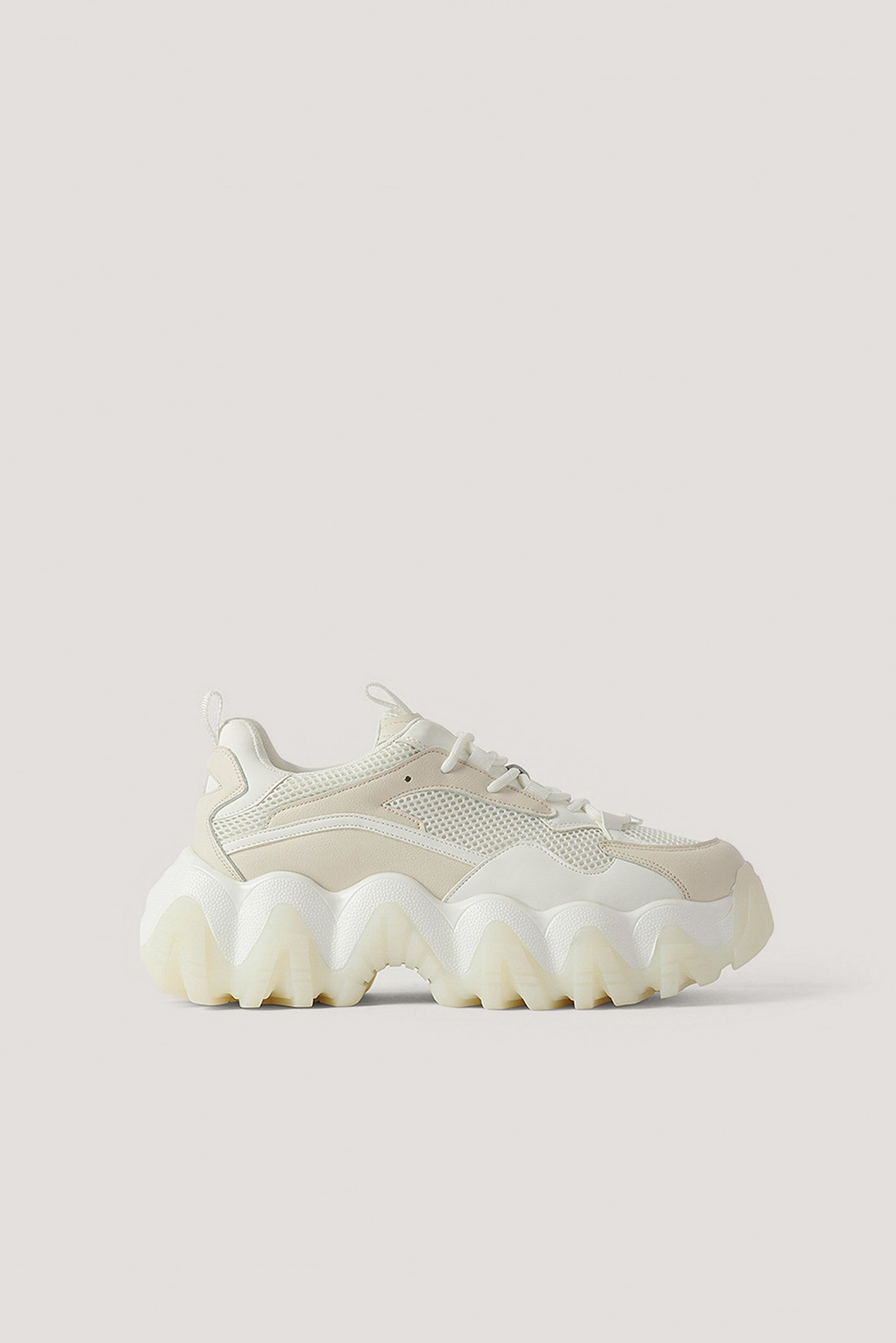 Cream Ronde Chunky Sneakers