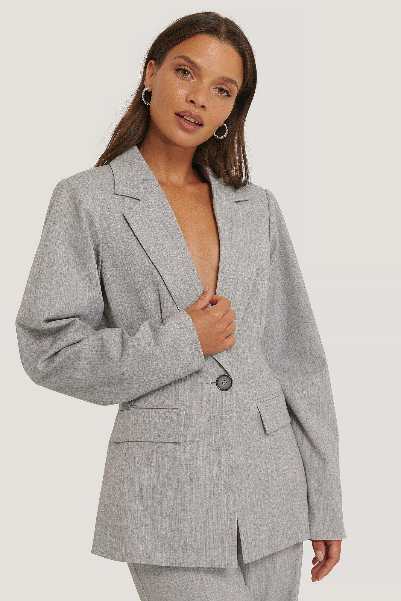 na-kd classic -  Blazer - Grey