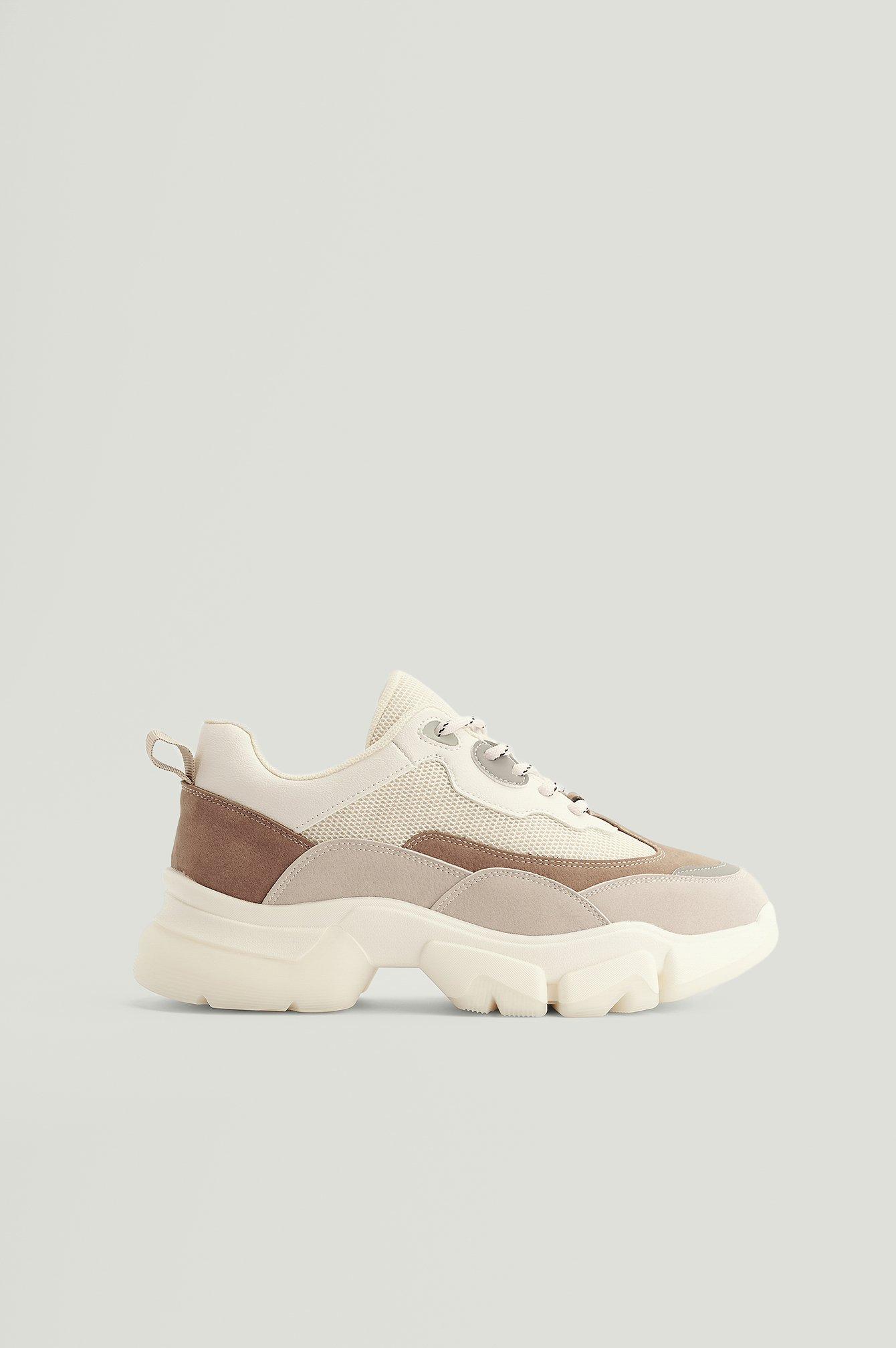 NA-KD Shoes Kraftige Sneakers Med Afrundet Sål - Multicolor