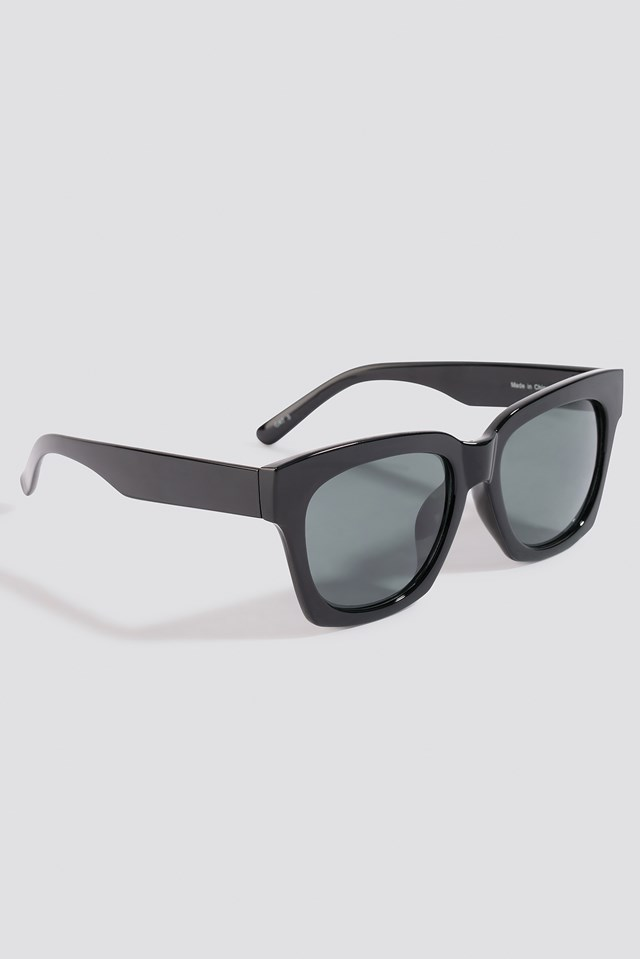 Rounded Squared Sunglasses Black