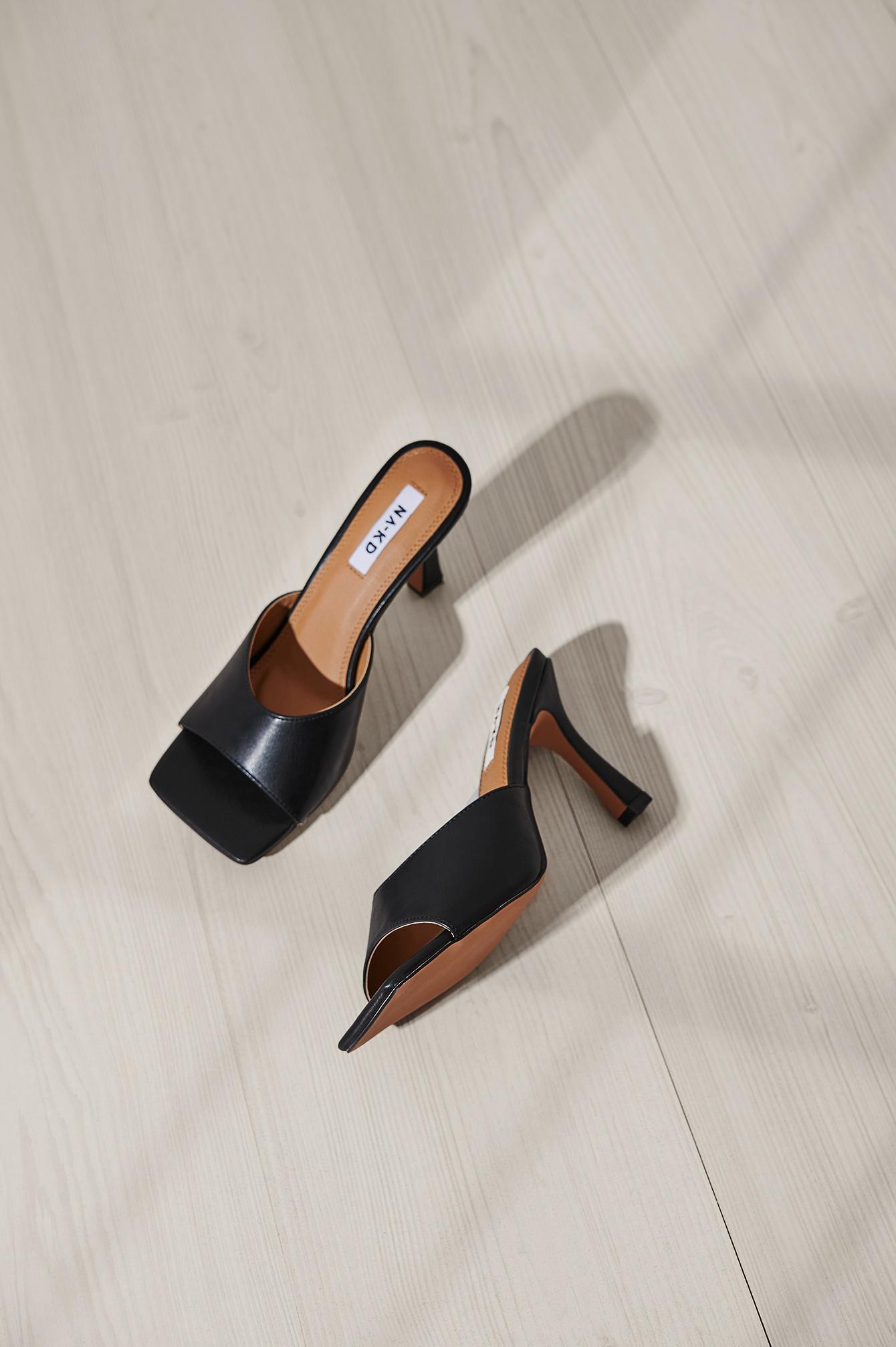 NA-KD Shoes Mules - Black