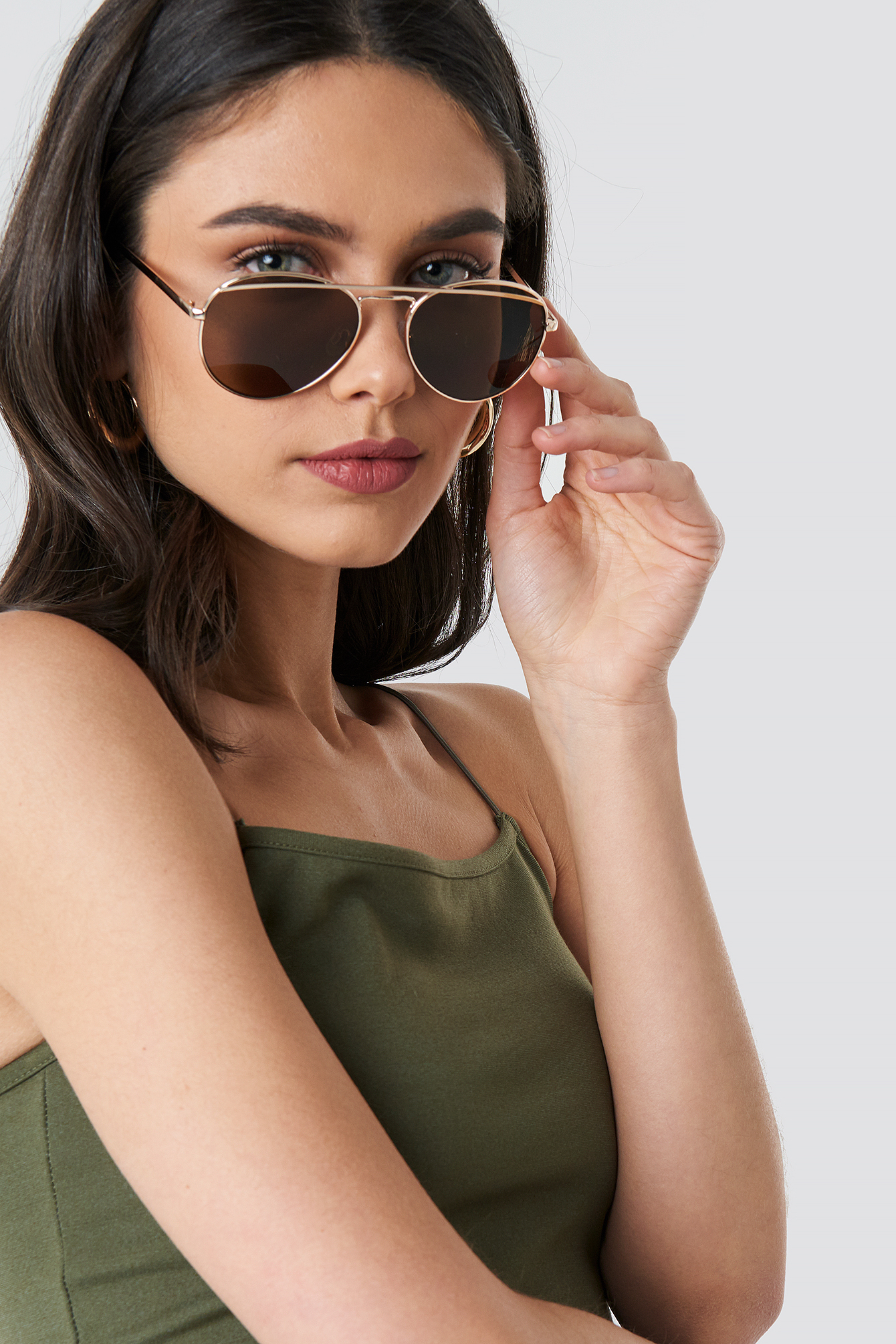 Rounded Top Bar Sunglasses NA-KD.COM