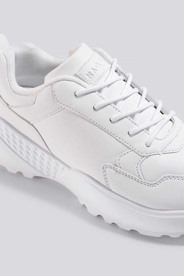 Rubber Detail Trainers White
