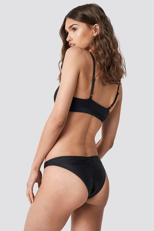 Ruched Back Bikini Panty Black