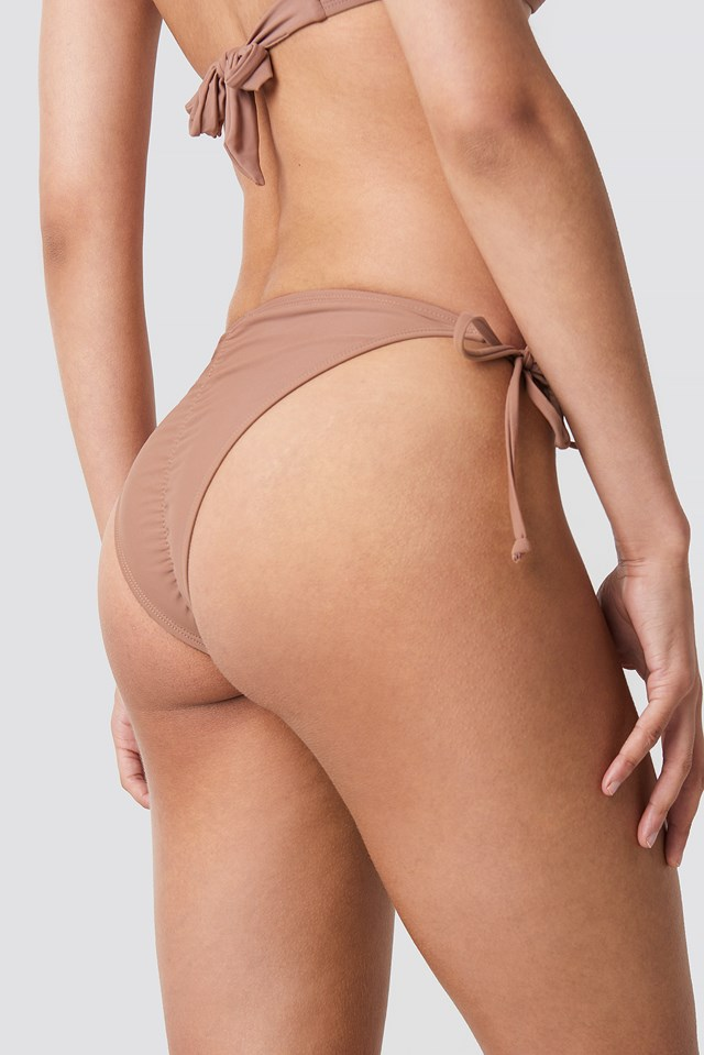 Ruched Back Triangle Panty Dusty Dark Pink