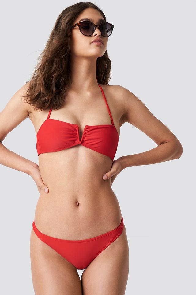 Ruched Back Bikini Panty NA-KD Swimwear