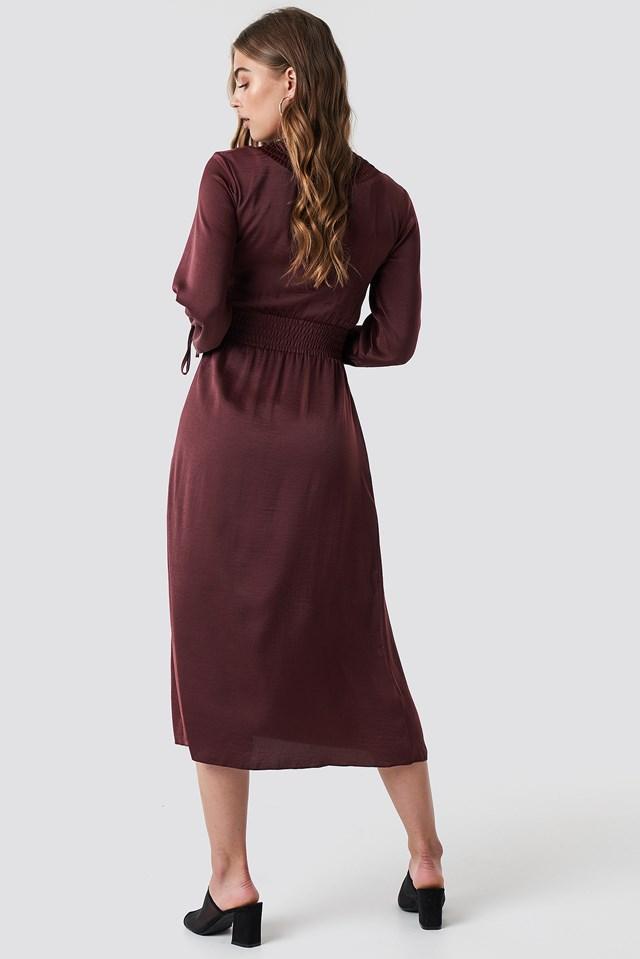Ruched Detail Midi Dress NA-KD.COM