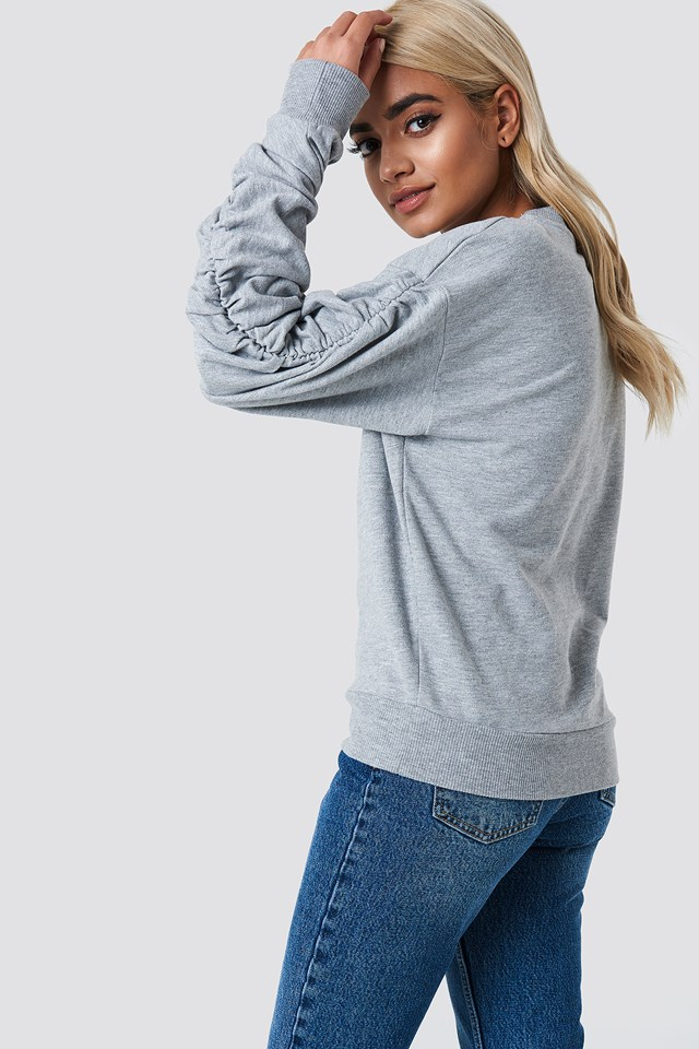 Ruched Sleeve Sweater NA-KD.COM