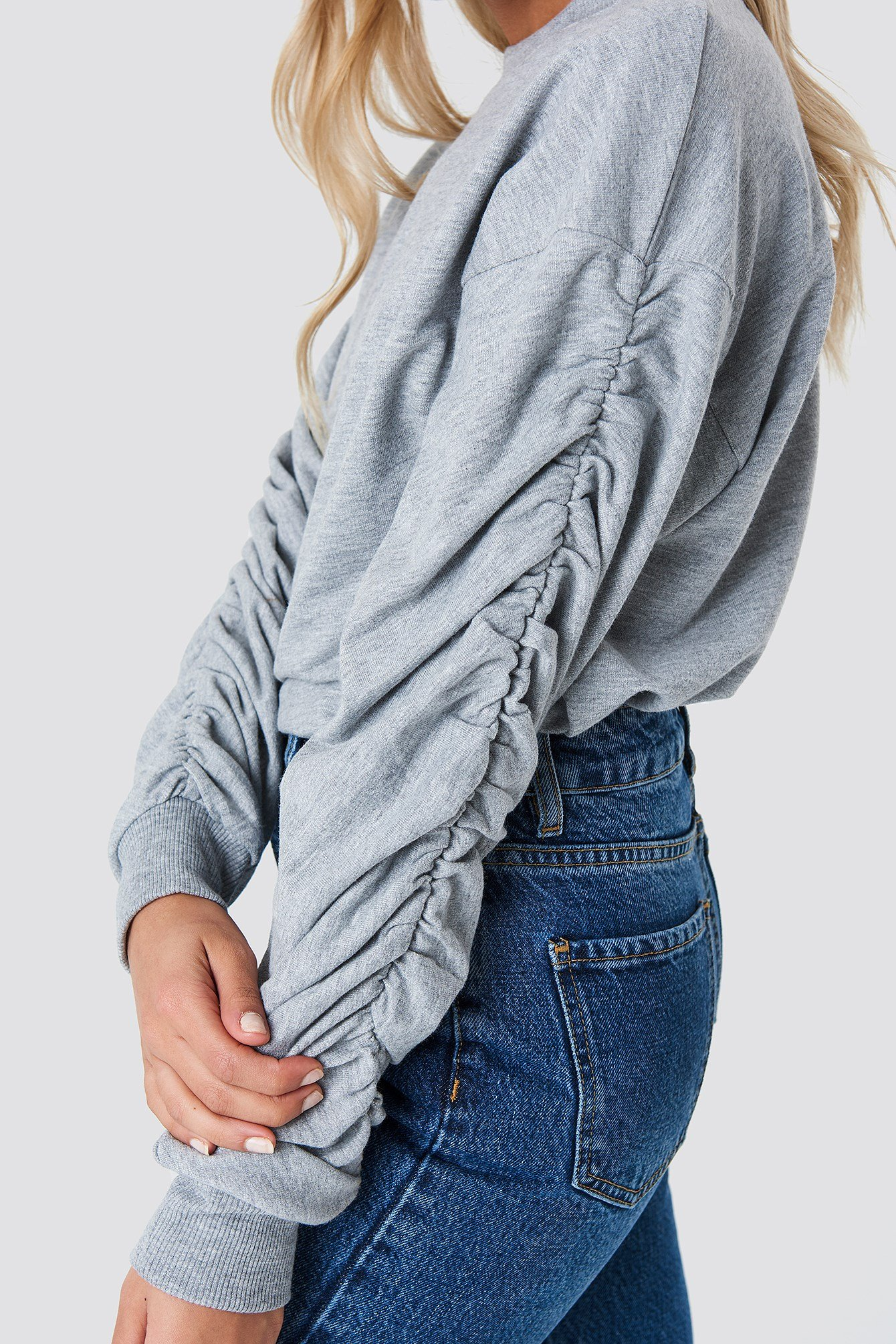 Ruched Sleeve Sweater NA-KD.COM