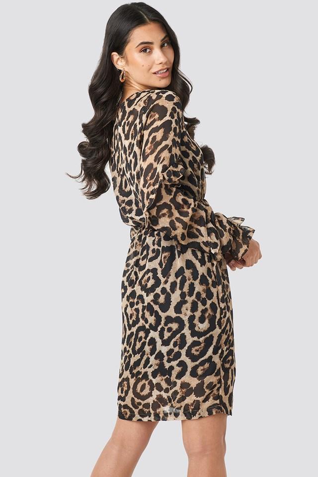 Ruffle Sleeve Dress Leo