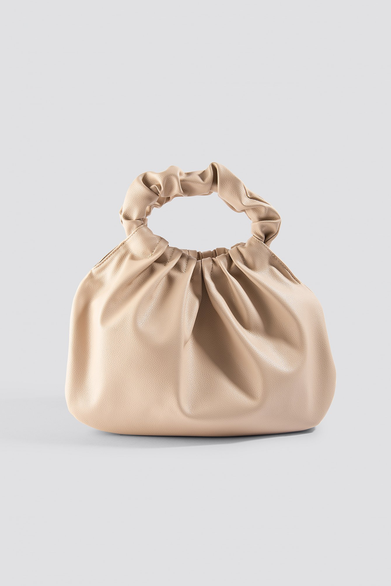 Ruffled Handle Handbag