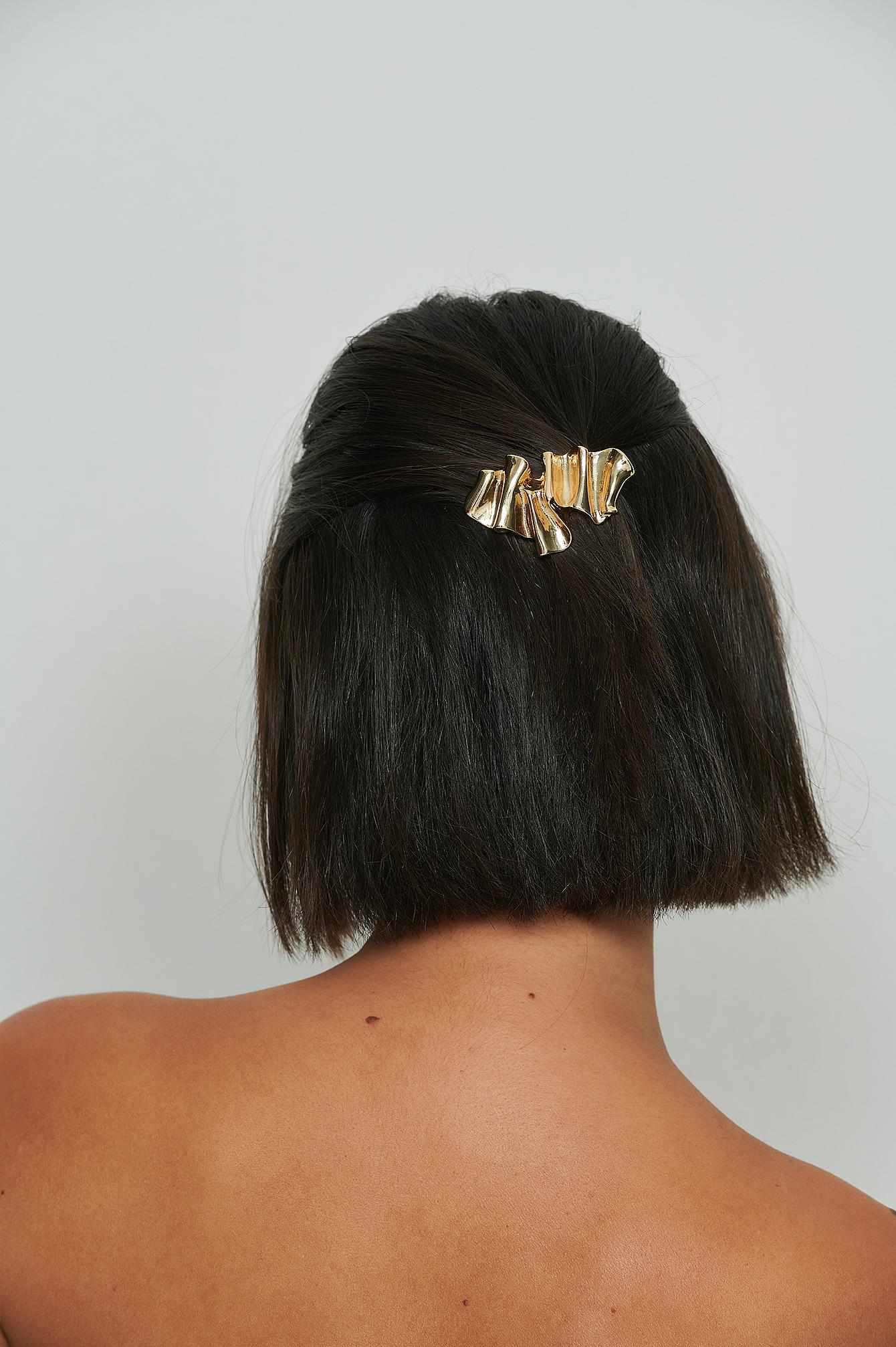 na-kd accessories -  Wellige Haarspange - Gold