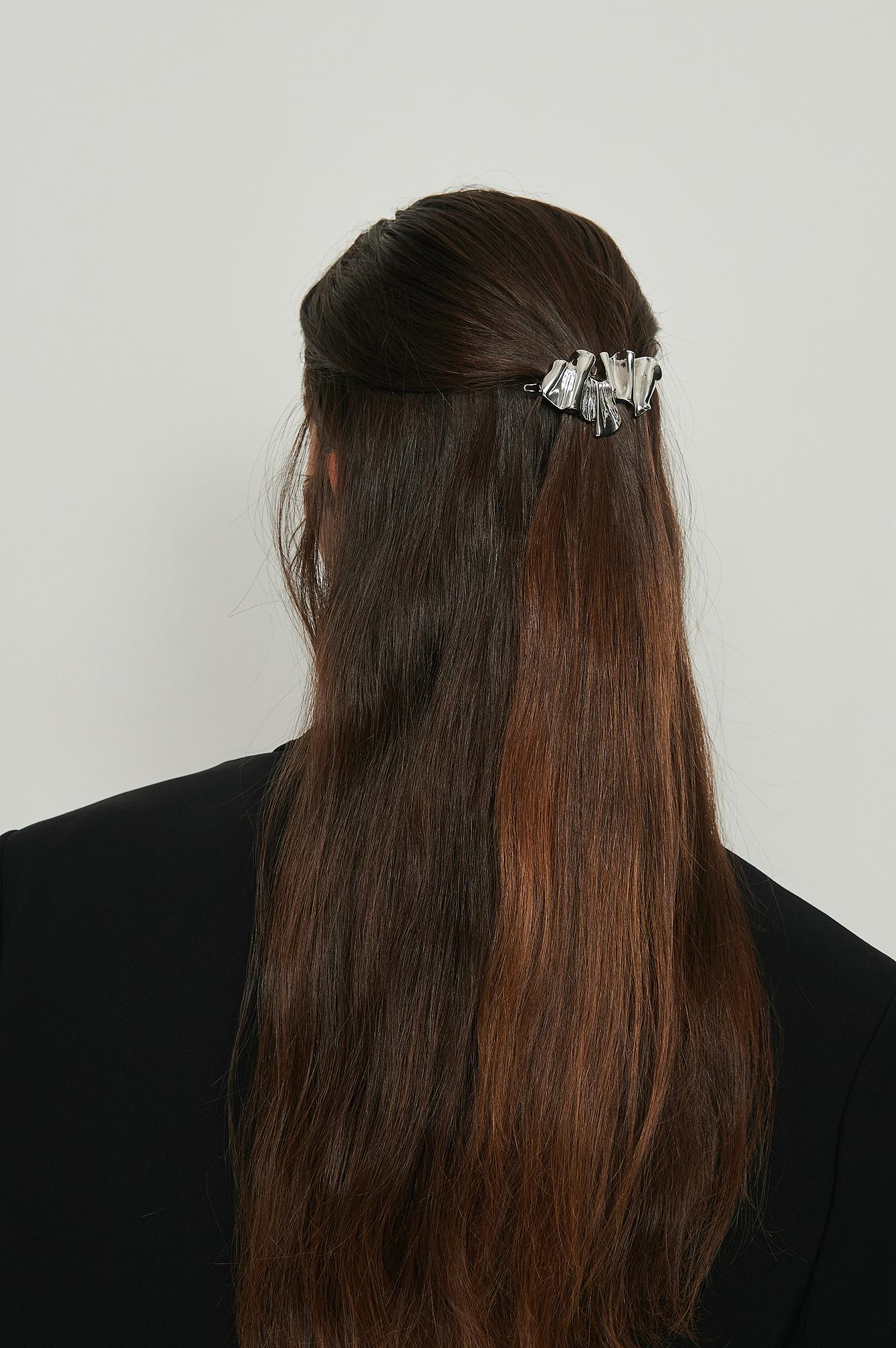 na-kd accessories -  Wellige Haarspange - Silver