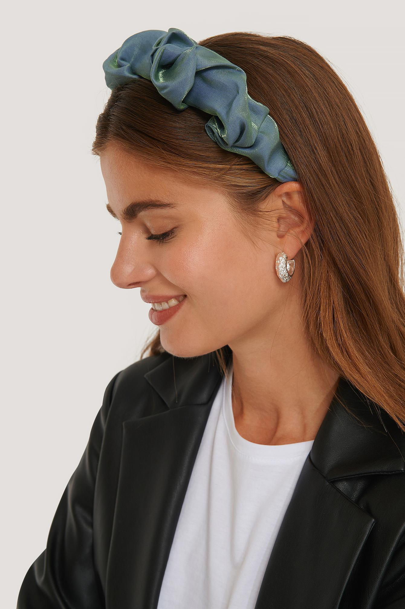 na-kd accessories -  Geraffter Satin-Haarreif - Blue