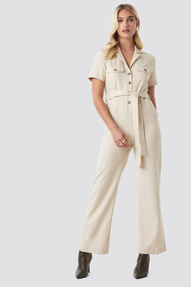 Safari Shirt jumpsuit NA-KD Trend