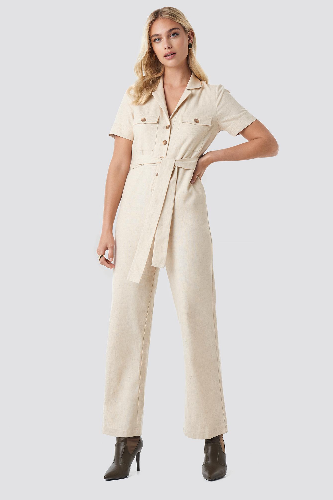 Safari Shirt Jumpsuit NA-KD.COM
