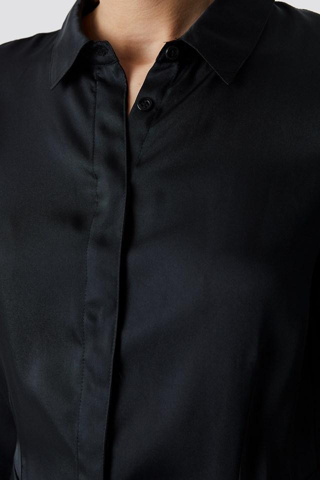 Satin Boilersuit Black