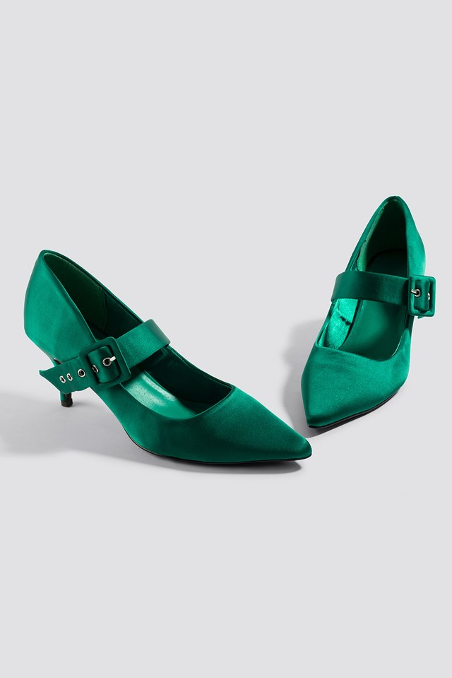 Satin Buckle Pumps NA-KD.COM