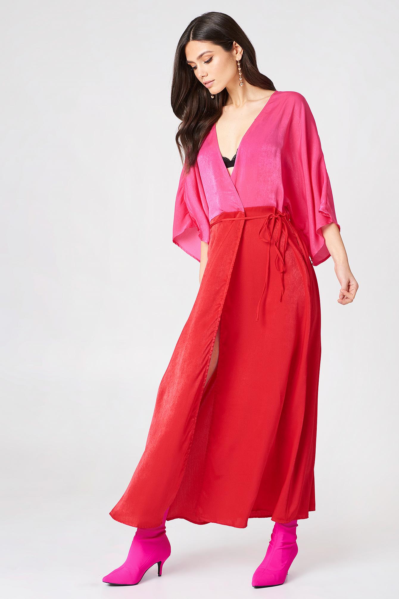Satin Coat Dress NA-KD.COM