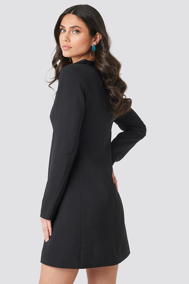 Satin Collar Blazer Dress NA-KD.COM