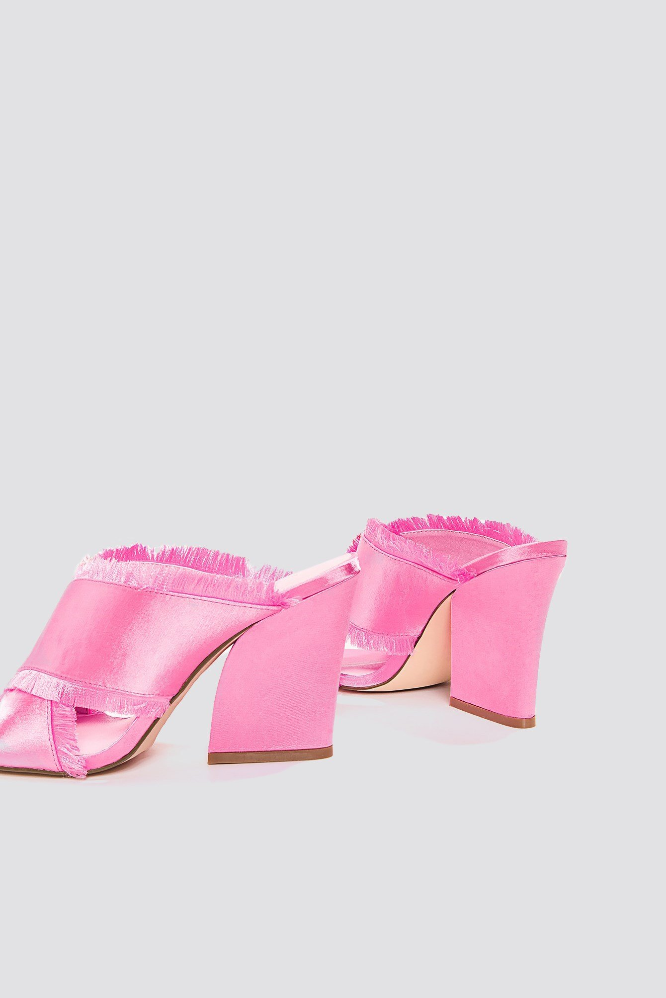 Satin Cross Mule Heels NA-KD.COM