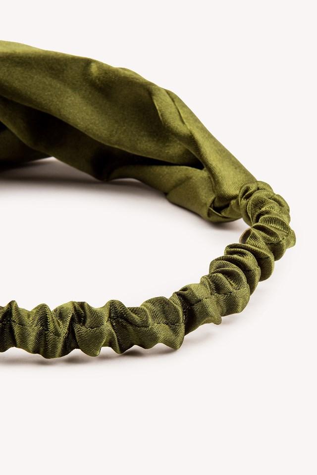 Satin Hairband Duck Green
