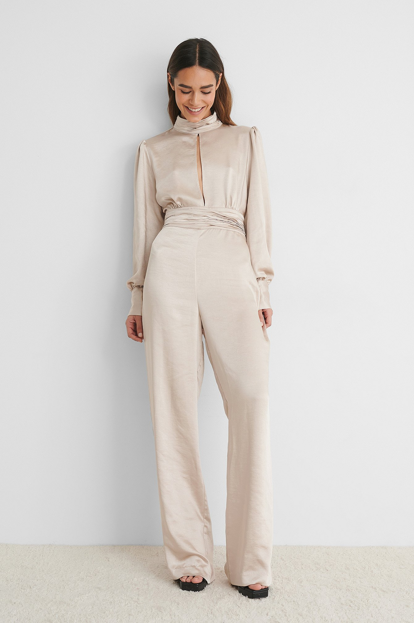 Champagne Jumpsuit I Sateng