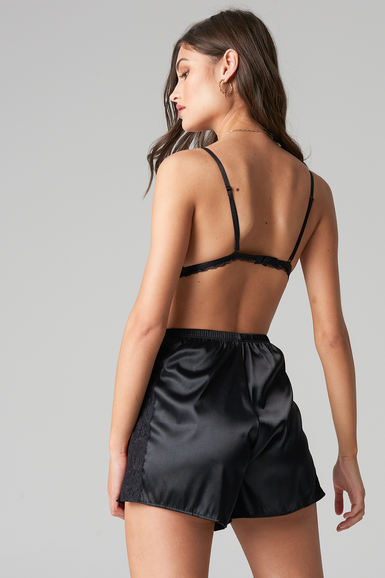 Satin Lace Shorts NA-KD.COM