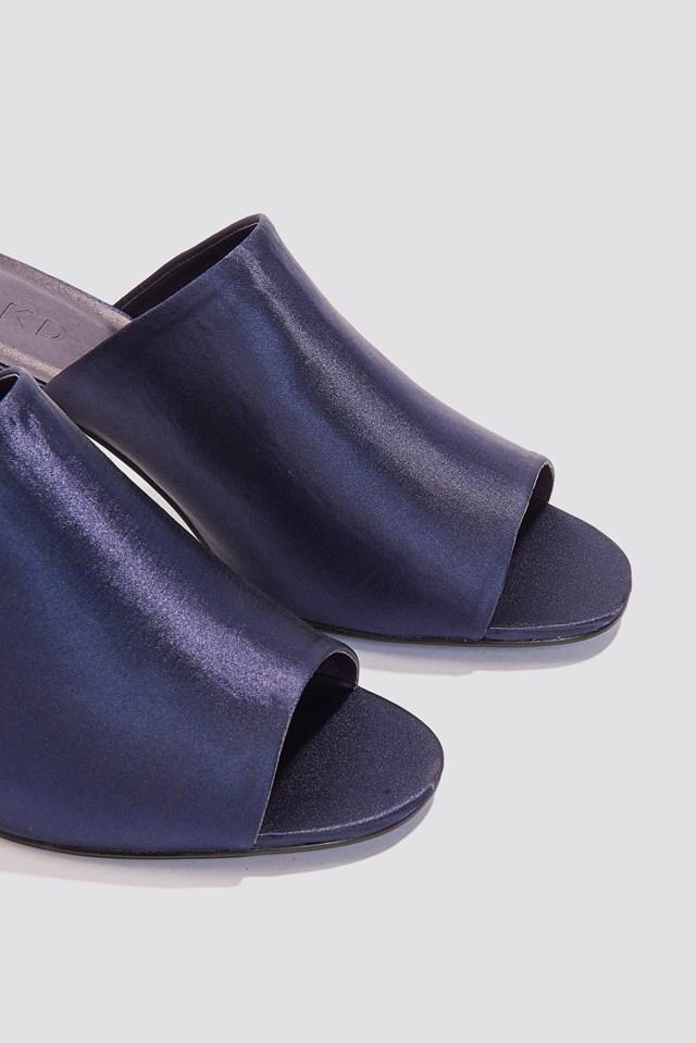Satin Mule Heel Sandals NA-KD.COM