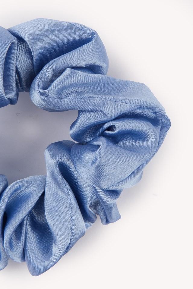 Satin Scrunchie Light Blue