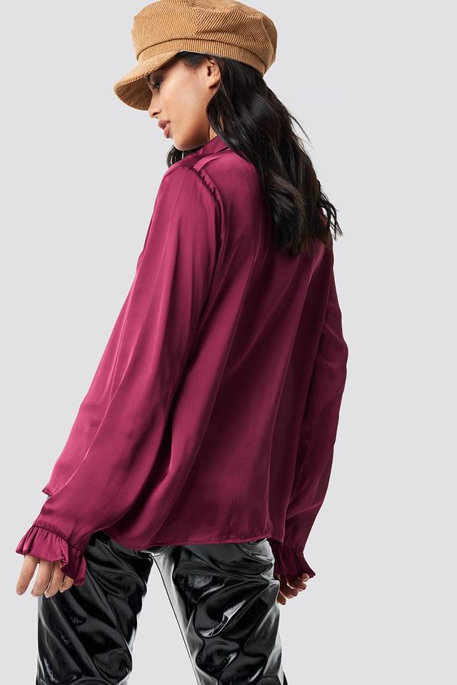 Satin Shirt Burgundy