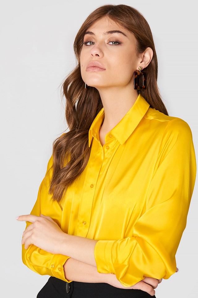Satin Shirt Yellow