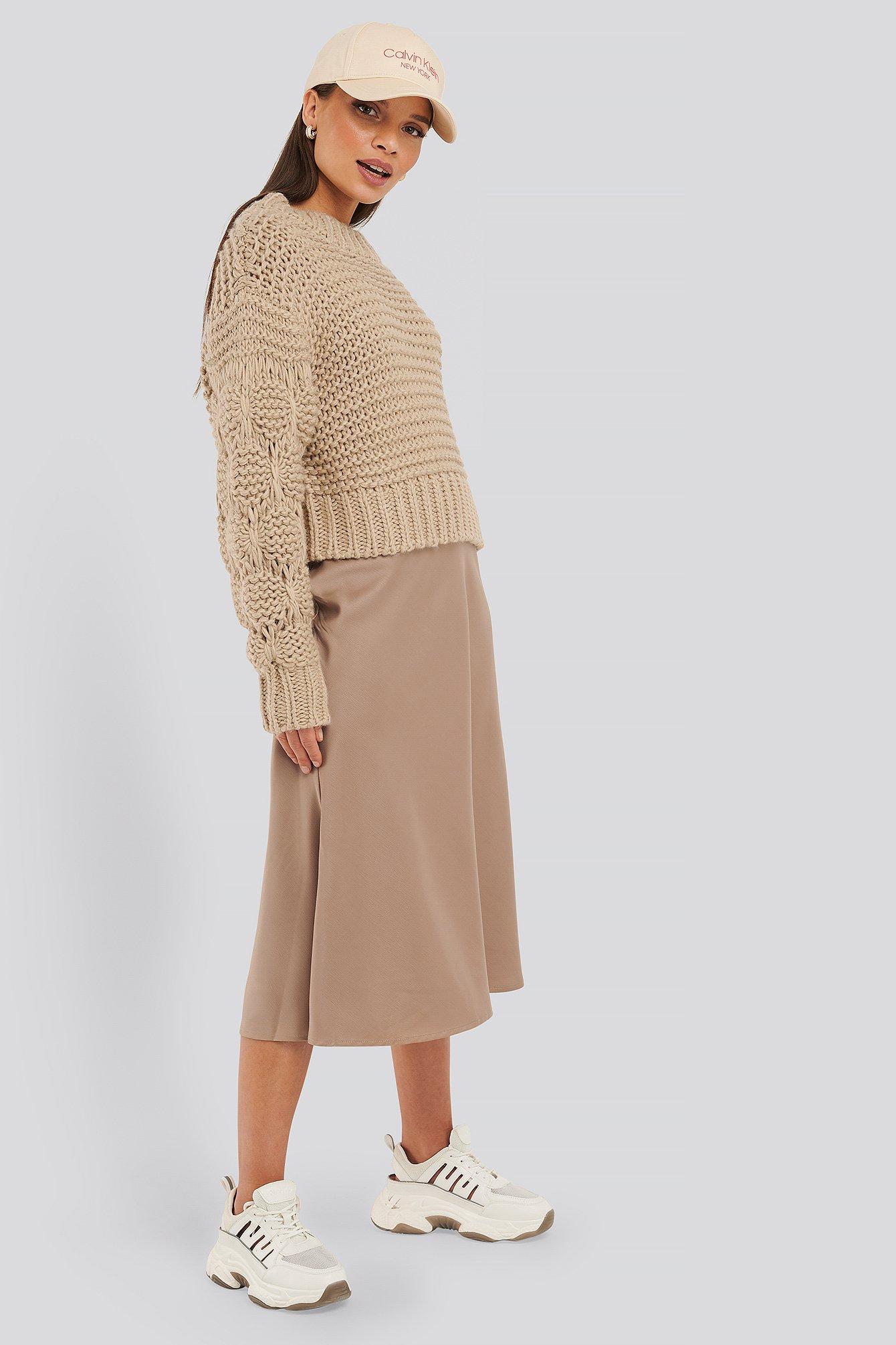 na-kd classic -  Satin Skirt - Beige