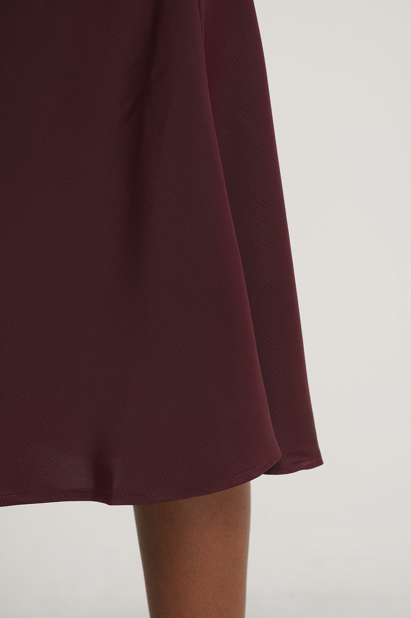 Burgundy Satin Skirt