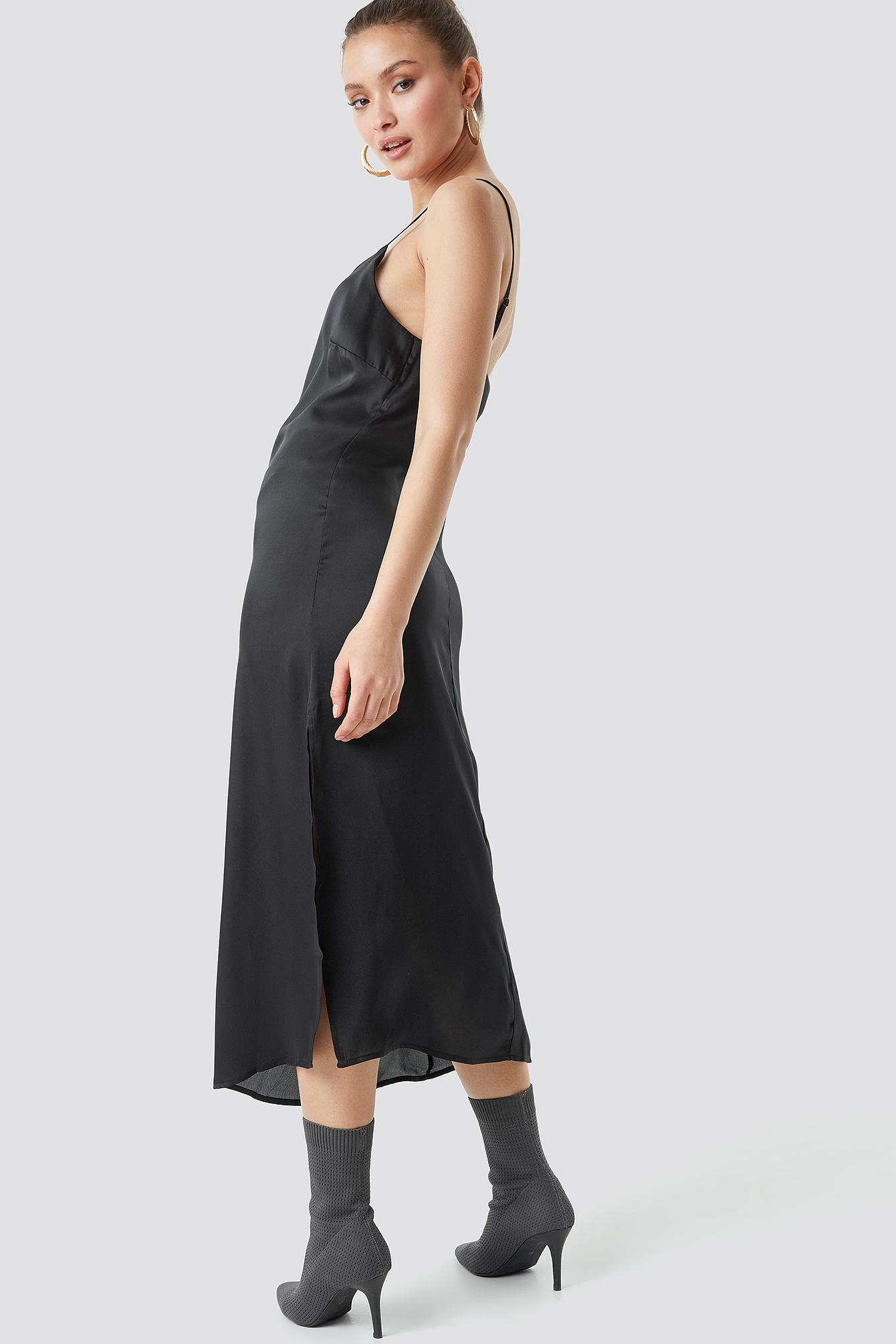 Satin Slip Dress NA-KD.COM