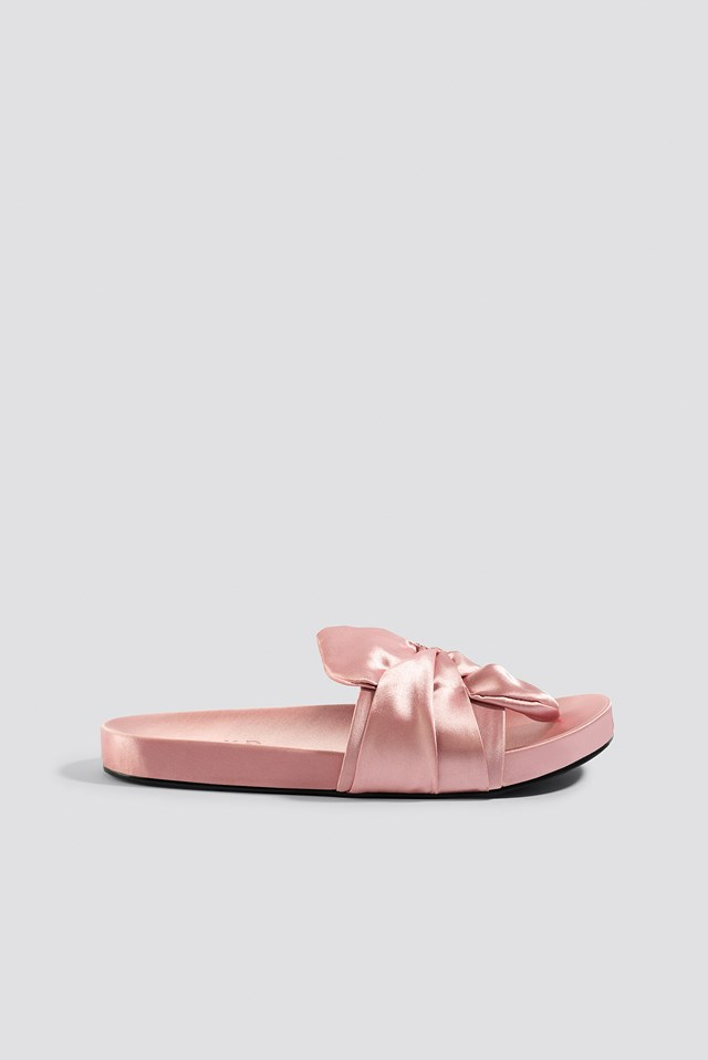 Knot Satin Slippers NA-KD Shoes