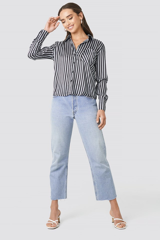 Satin Stripe Shirt Stripe