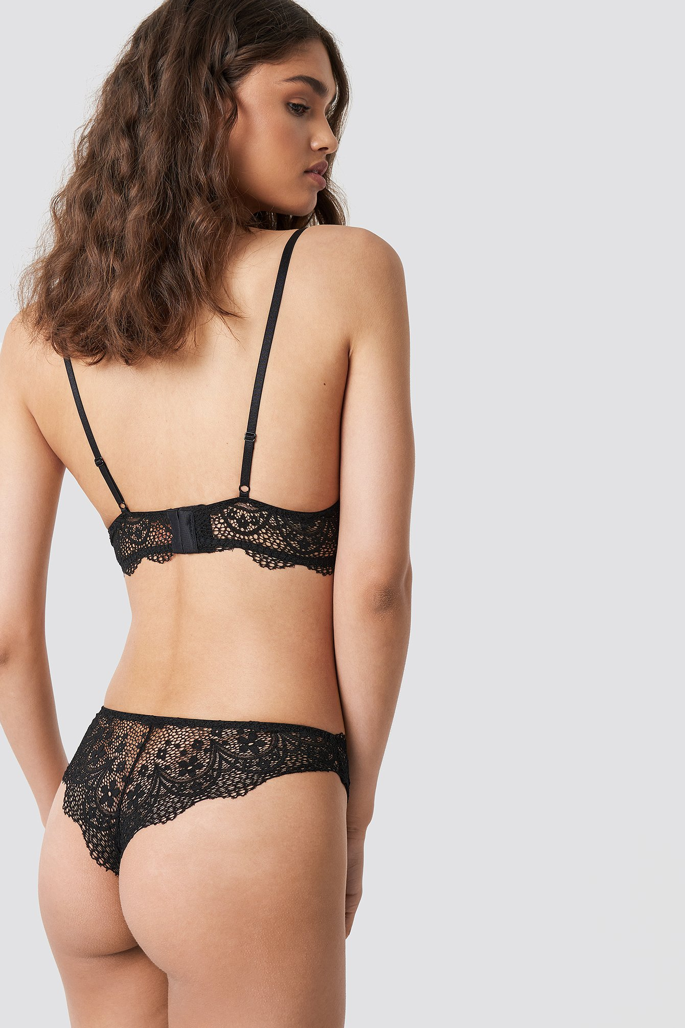 Scalloped Floral Lace Panty NA-KD.COM