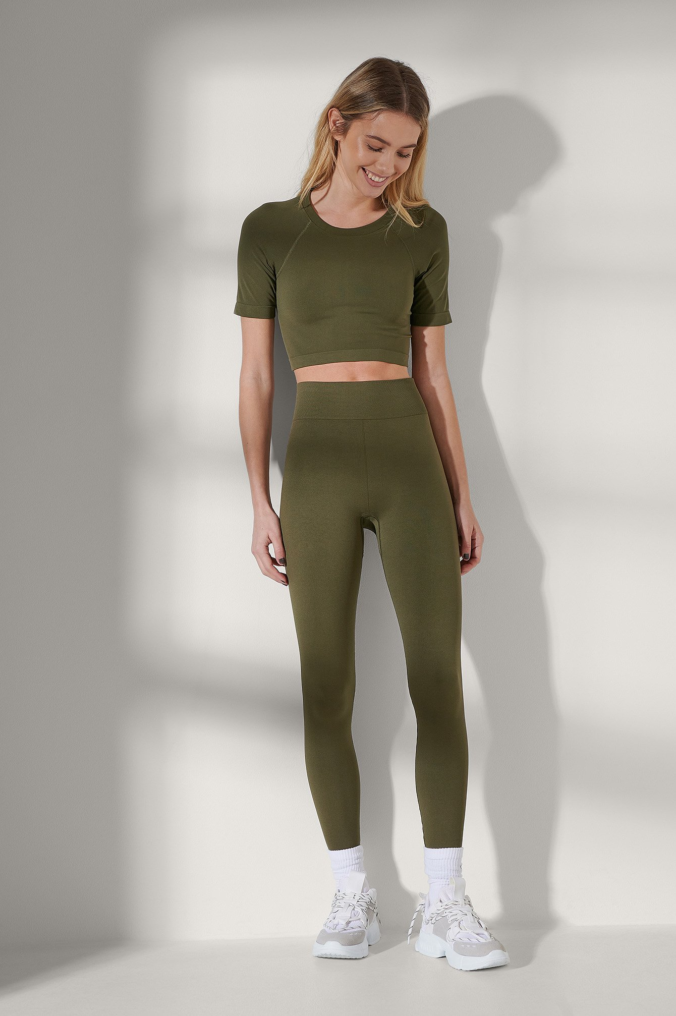 Dark Olive Seamless High Waist Leggings